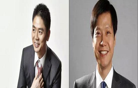 京東CEO劉強東 VS 小米CEO雷軍